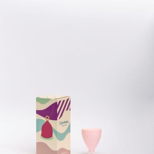 Cocmau Menstrual Cup in Pastel Pink