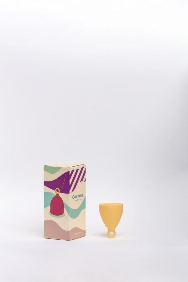 Cocmau Menstrual Cup in Sunshine Yellow