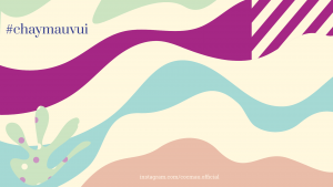 Website background illustration for Cocmau, the cutest menstrual cup on Earth